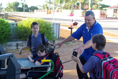 Our twins were very excited to see the new Taxi our favourite taxi man John has this year and were keen to try it out. Keep em under control John!
