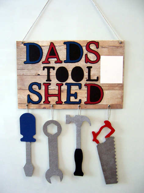 Fathers day gift tool shed