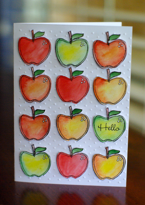 Card Apples Hello
