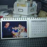 Desk Calendar - flip with photos