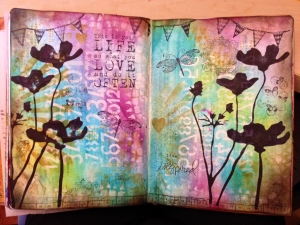 Art Journal Distress inks and paints