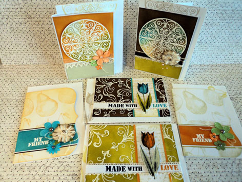 Scrapbook House Geraldton Card Class Distress Ink White Embossing
