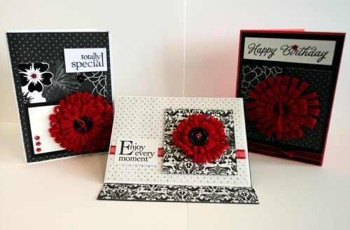 Scrapbook House Geraldton Card Class Felt  Loopy Flower