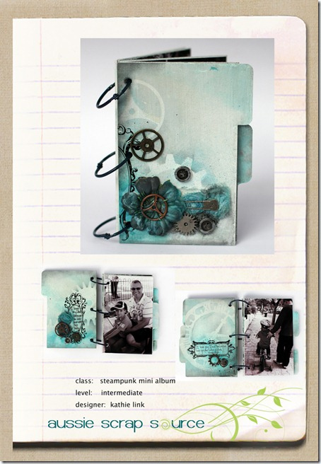 Scrapbook House Steampunk Mini Album