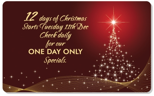 The Scrapbook House 12 Days of Christmas starts Tuesday 11th December. Check daily for our ONE DAY instore only specials.