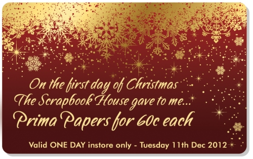 First Day of Christmas at The Scrapbook House Geraldton