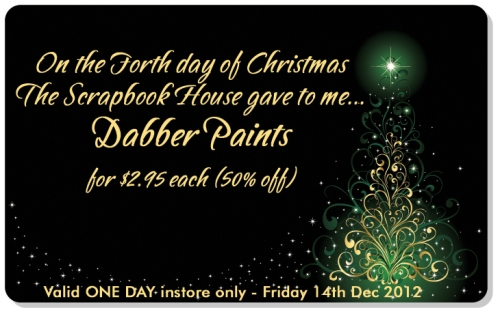 Fourth Day of Christmas The Scrapbook House Geraldton