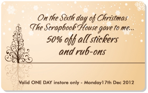 Sixth Day of Christmas Scrapbook house Geraldton