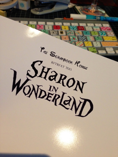 Alice in Wonderland Font Name Tag