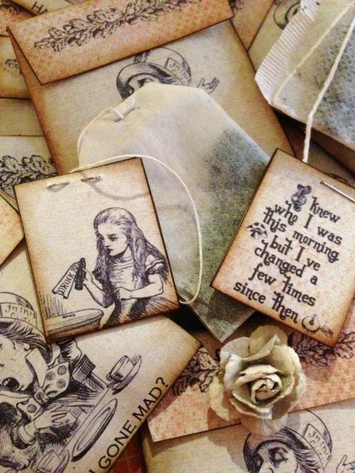 Tea Bags Alice in Wonderland