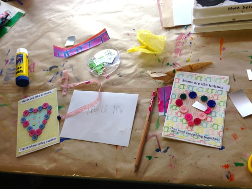 Cardmaking with kids