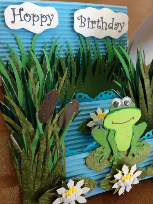 hoppy birthday card frog