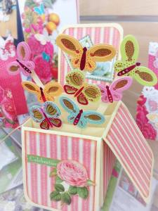 card in a box butterfly pop up class