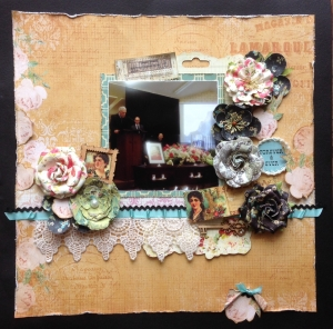 Scrapbook Page Cherish, Forever and Ever