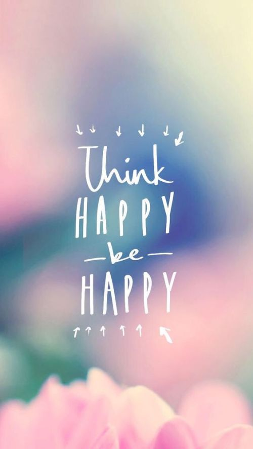 iphone wallpaper think happy