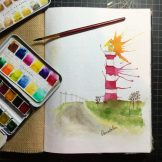 Hometown Geraldton Watercolour Challenge by Tania Scrapbook House