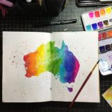 Country Australia Watercolour Challenge by Tania Scrapbook House
