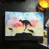 Country Icon Australia Watercolour Challenge by Tania Scrapbook House