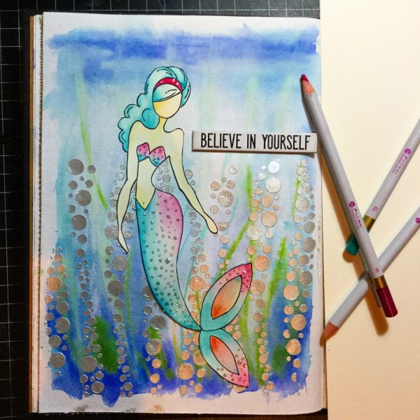 Mermaid Watercolour Challenge by Tania Scrapbook House