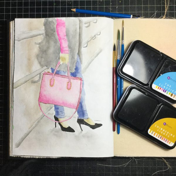 Purse Watercolour Challenge by Tania Scrapbook House