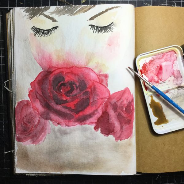 Rose Watercolour Challenge by Tania Scrapbook House