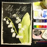 Lily of the Valley Watercolour Challenge by Tania Scrapbook House