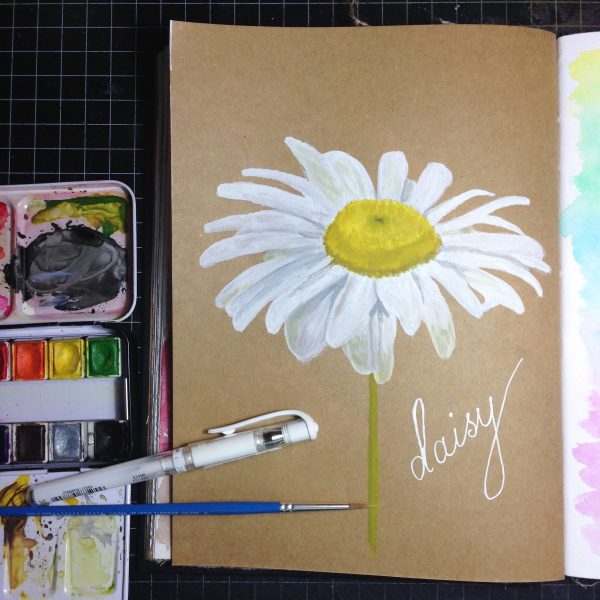 Daisy Watercolour Challenge by Tania Scrapbook House