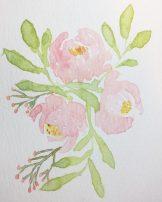 Floral Watercolour Challenge by Tania Scrapbook House