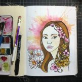 Flowers Watercolour Challenge by Tania Scrapbook House