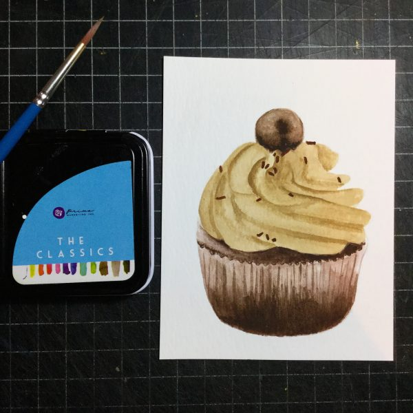 Cupcake Watercolour Challenge by Tania Scrapbook House