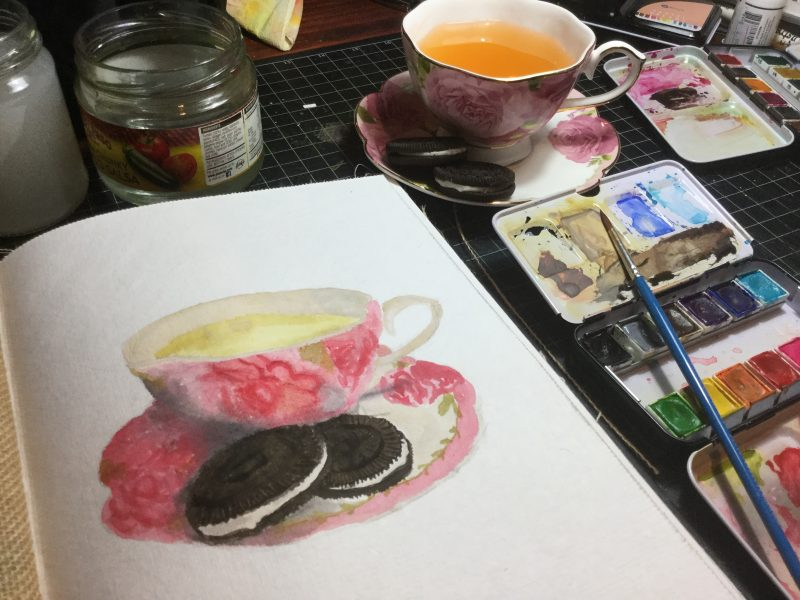 Cookie Watercolour Challenge by Tania Scrapbook House