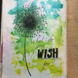 Dandelion Watercolour Challenge by Tania Scrapbook House