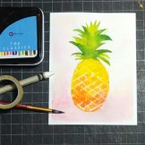 Pineapple Watercolour Challenge by Tania Scrapbook House