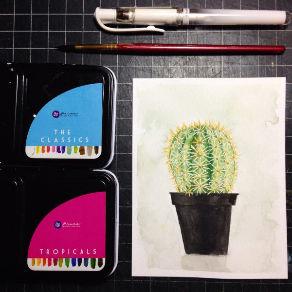 Cactus Watercolour Challenge by Tania Scrapbook House